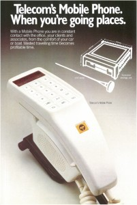 Telstra Mobile Phone circa 1981. Image courtesy Tesltra Australia.