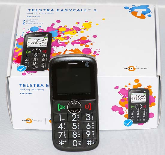 Telstra EasyCall 2 Mobile Phone (Image copyright (c) 2011, Gary Stark)