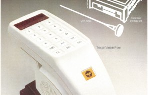 Telstra Mobile Phone circa 1981. Image courtesy Tesltra Australia.