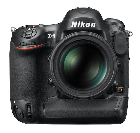 Nikon D4 Body, Front View