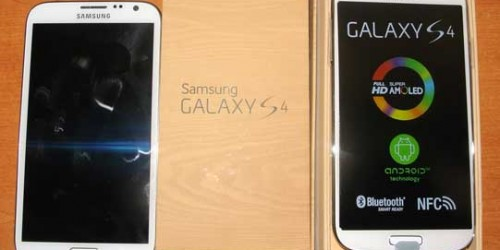 Samsung Galaxy S4 with Samsung Galaxy Note 2